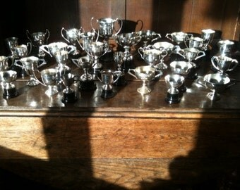 Vintage English large trophy cup collection motor car motorbike racing 1950s 1960s job lot of 31 / English Shop