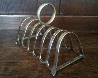 Vintage English EPNS Metal Toast Letter Note Stand Display Rack circa 1960's / English Shop