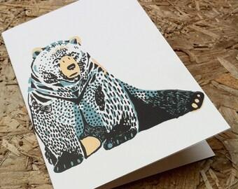 Benson Bear - Greetings Card