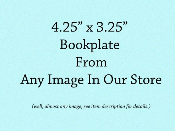 Personalized Bookplates - Pack of Ten - Choose From Any Image in Our Store