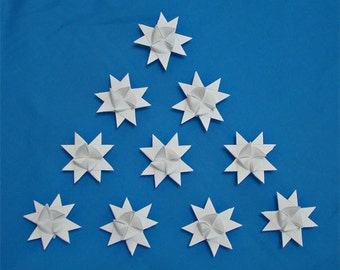 Moravian Stars (10): White, 3 inches