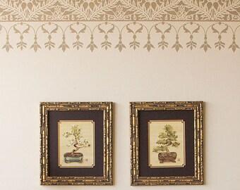 Large Moroccan Wall Border Stencil Furniture and Craft Stencil for DIY Decor - Border Wall Designs