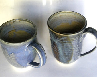 Grey Blue Mugs for a lazy morning