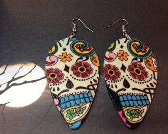 Sugar skull earrings (Dia de Los muertos)