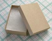 10 High Quality Matte Kraft Cotton Filled Jewelry Boxes 3 1/8 x 2 1/4 x 1 inch - Medium