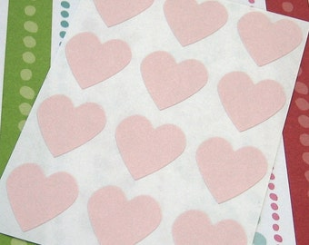 108 Heart Sticker Seals Baby Pink 3/4 inch