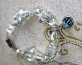 Crystal Brcelet with Our Lady of Grace Charm and magnetic clasp