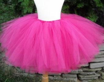 Fuchsia Pink Tutu Adult Teen Child Skirt