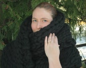 Runway Giant : Super Luxurious Thick and Bulky Wool Knit Scarf - Runway Style - Street Style