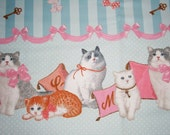 Lovely Lolita Cats Pillow Slumber Party Blue Striped Sweet Lolita Skirt - ANY SIZE