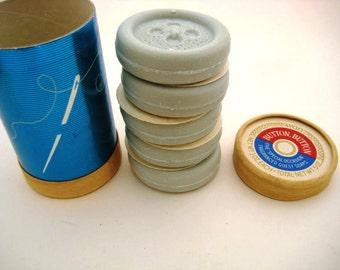 Vintage Avon Guest Soaps - Button/Sewing Soap Set