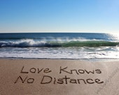 LOVE KNOWS NO Distance - miss you, worlds apart, long distance love