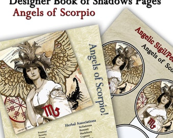 Angels of Scorpio Astrological Sign Digital Download Art Book of Shadows Pages Two Sigils and Correspondences  Perfect for Moon Magick