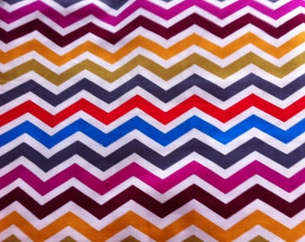 Molly CHEVRON New Brother Sister Design Bright Colors 100% Cotton Fabric One Yard Brother Sister Design
