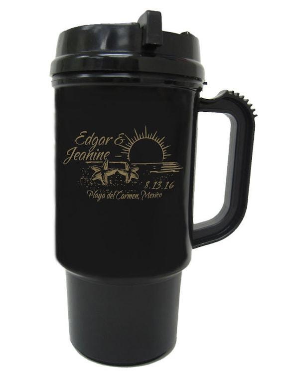 Customized Wedding Mugs : 100 Wedding Favor 21oz Custom Destination Travel Mugs