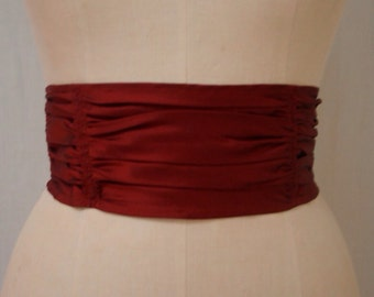 Ruby Red Gathered Sash