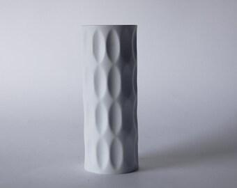 Modernist Bisque Op Art Vase by Heinrich Fuchs - Hutschenreuther 1960s