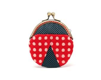 Magical ladybug mini coin purse