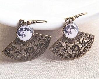 Full Moon Earrings Moon Jewelry Dangle Earrings Christmas Gift For Her