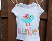 EXCLUSIVE Sweet Tweet Birdie Applique T Shirt for Children by Bubblebabys
