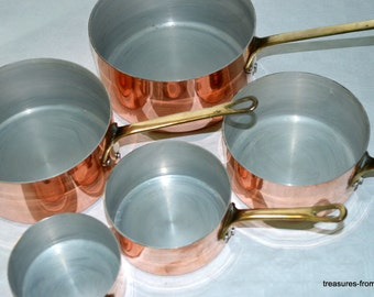 French copper pots pans cuisine professional casseroles en cuivre