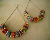 Mardi Gras Party Earrings - New Years and Mardi Gras and Summer for My Aussie Friends ~ Time for a Little Fun and a Lot of Color