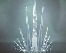 Ultimate Ice Queen Tiara Crown - Icicle Tiara - Ice Queen Costume - Made to Order
