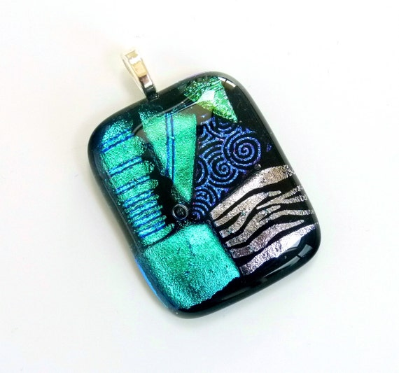 kiln fired art pendant