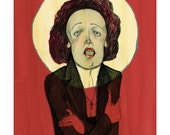 Edith Piaf Limited Edition Giclee Print by Bett Norris