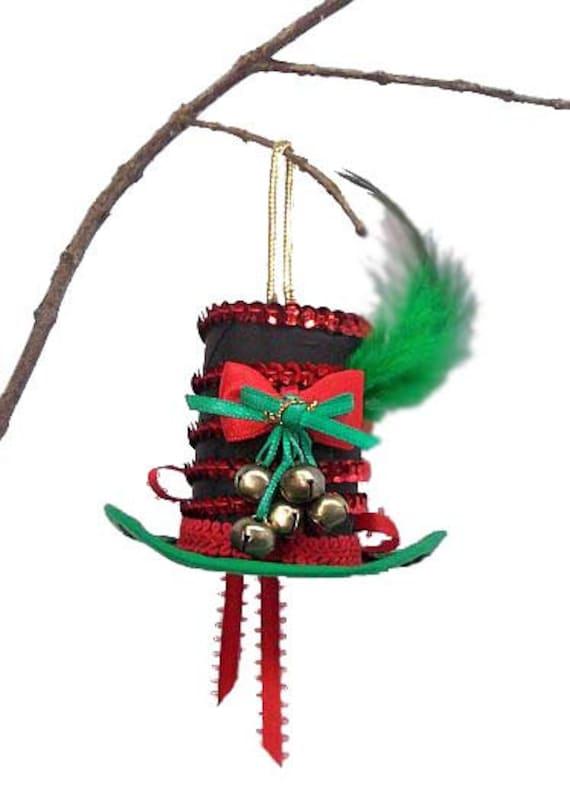 Mini top hat christmas holiday ornament dapper steampunk