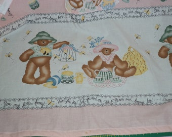 Apron, Daisy Kingdom, Bears on Pink,  Small Adult or Teen Size, Ready to Ship
