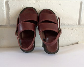 Vintage Maroon Baby Shoes