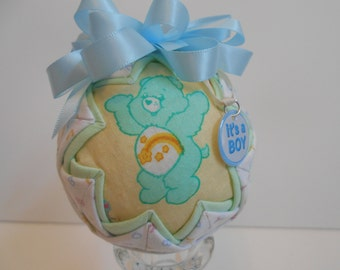 It's a boy quilted ornament, quilted ornament, baby boy ornament, baby