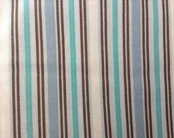 Cotton Fabric - Bethany Shackelford by Suzanne Cruise - Stripes - Blue - 2 yards