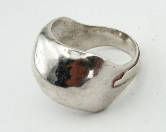 Unique Handcrafted 925 Sterling Silver Ring size 8, Israel Jewelry, Gift (H 1125