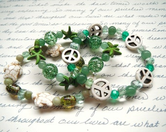 Dreams of Peace Layered Stretchy Bracelets