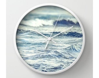 Waves Seascape Wall Clock