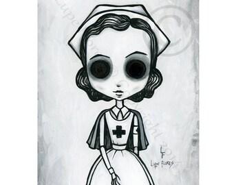 Nurse 8x10 ART PRINT by Lupe Flores