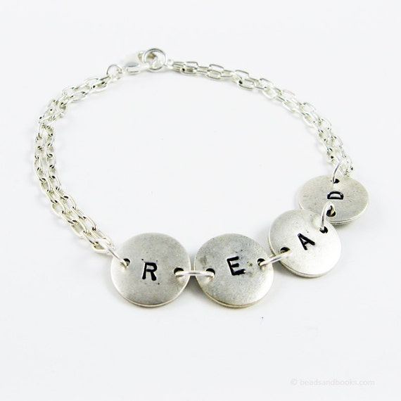 Reading Earrings: Read Bracelet Word Jewelry For Book Lover Reader Librarian