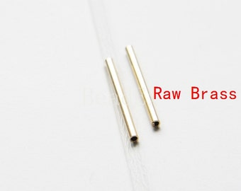 60pcs / Raw Brass / Tube / Brass Base / Spacer 2x25mm  (C1684//P273)