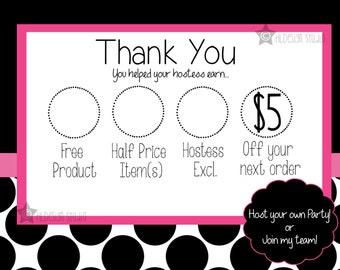 Customer thank you bag tag postcard customized for any for Bedroom kandi business cards