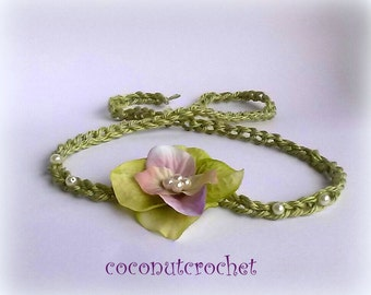 Tie Back Halo Headband Size Newborn to Adult Mother's Day Gift Baby Photo Prop
