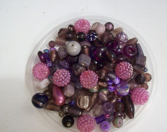 Mystery Surprise in Purple Beads ... 60 or more Purple Beads