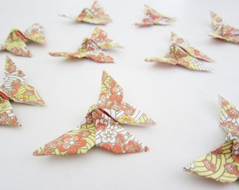 25 Dogwood Blossom Chiyogami Origami Butterflies