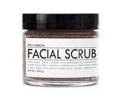 FACIAL SCRUB - 2.5 ounces - in glass jar - organic - apothecary