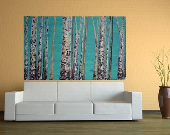 Made To Order-Choose Size-Original Modern Aspen/Birch Tree Painting