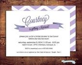 Printable Ribbon Banner- Bridal Shower Invite (digital file) DIY Printing at home or your choice of printer