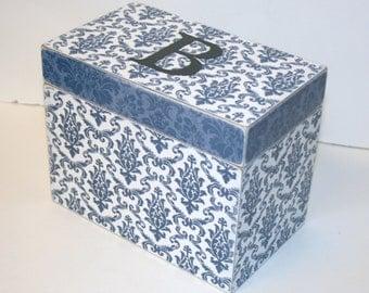 Recipe Box, 4x6 Wooden Recipe Box, 4 x 6 Box, Custom - You Design It, Handmade Personalized Recipe Box, Address File Wedding Guest Book Box