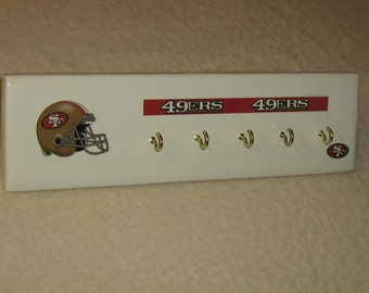 San Francisco 49ers key rack