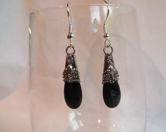 Jet Black Dangle Earrings